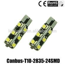 New 2835 led 24 smd w5w / 194 / T10 led lights car, Auto led 194 w5w , led Car led