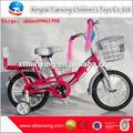 Gros bon prix top qualitypink 14 pouces roue de vélo fille enfants à vélo avec la roue de formation/vélos enfants