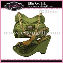 New Hot Italian Matching Shoes and Bag YE2152-Green