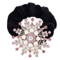 Rhinestone Flower Kknekki Hair Elastic Band Hair Accessories 82235 Plastic Men Hair Band
