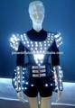 Diodo emissor de luz do desgaste da dança/estágio roupas de show/roupas de fibra óptica