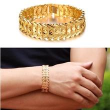 Latest New Design Mens18k Gold Stainless Steel Chain Bracelets
