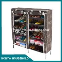 folding 2-doors wooden shoe cabinet