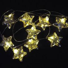 New design star model warm white led string light