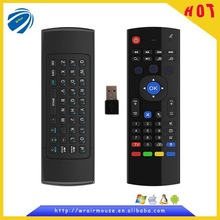 electroinic products wirleless air fly mouse mini keyboard remote control for smart telephone