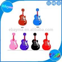 Cooperate item novely guitar usb memory disk personerlized pormo gift usb custom logo