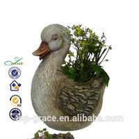 duck model flower pot outdoor large resin animals