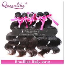 Hot sell wavy virgin hair piece, high quality Ture length brazilian virgin human hair