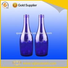 33cl nice designed cobalt blue glass water bottle