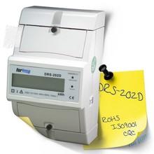 DRS-202D high accuracy single phase Din rail kilo watt hour meter