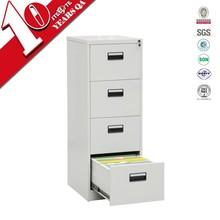 Standard size 4 drawer vertical file cabinet steel office furniture