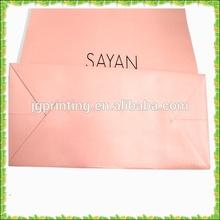 Packaging shopping pink printing bag,cheap decorative paper bag