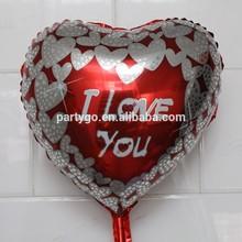 18inch infaltable Wholesale product I LOVE YOU diamond helium heart shape foil balloon