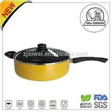 FDA & LFGB Aluminum Deep Frypan//Non-stick Coating Deep Frying Pan/Low Pot