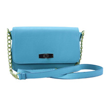 Ladies fashion PU mini crossbody bag with turn lock closure