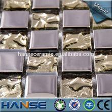 D-23-17 Foshan factory gold color wholesale price mosaic glass ornament