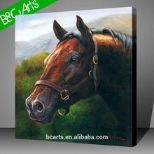 Brown european horse canvas print picture