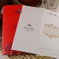 حار ختم بطاقة دعوة الزفاف الفخمة