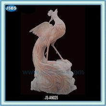 Wholesale Price Home Interior Design Carved Stone Red Phoenix Statue