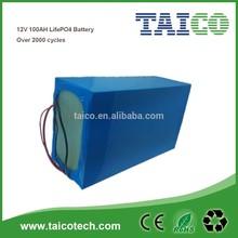 Lifepo4 12v 100ah solar storage battery pack solar and UPS usage