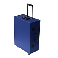 2015 Hot Sale trolley beauty case makeup case with lighted mirror