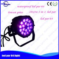 18x3w waterproof LED par lights for dj disco 12 pieces