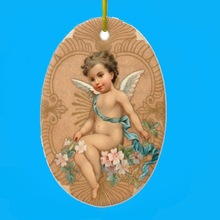 adorable ceramic angel christmas ornaments