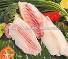 Healthy frozen tilapia slices on sales