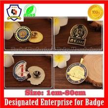 HUAHUI badge manufacturer bulk school badge logo, handbags metal logo badge (HH-badge-679)