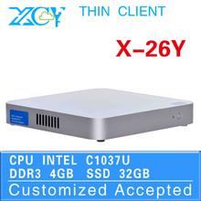 High-performance Powerful energy-saving CPUs celeron C1037u 4g ram notebook computer new pc mini pc thin client with wifi