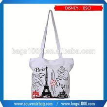 2015 fashion stripe canvas beach tote bag wholesale