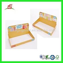 Q289 Guangdong Folding Perforated Cardboard Counter Display