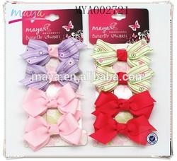 the plain hot selling pretty mini grosgrain ribbon hair clip hairdressing for little girls