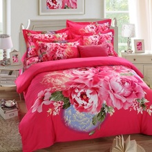 rose red big size china's wholesale price adult's bed sheet queen size