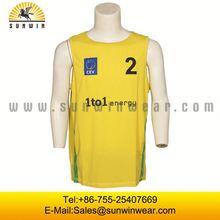 2014 Promotional Logo Printed Custom Basketball Uniform Design