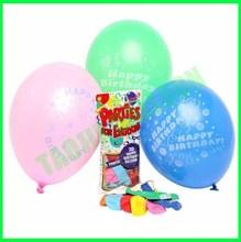 12 inches Happy birthday latex balloons