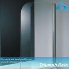 AOOC1506CL Flag-shape round corner shower screen for bath tub