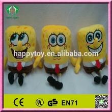 HI CE sponge bob plush toy, sponge bob cartoon stuffed plush toy