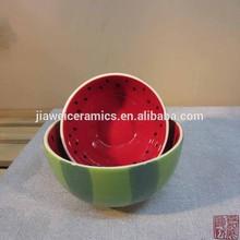 factory direct wholesale fruit design ceramic sala bowl