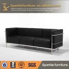 full sponge leather sofa without wood LC2 sofa set