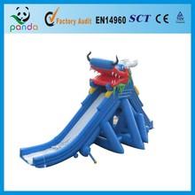 Bule Water Dragon Inflatable Pool Slide wet slide/inflatable swimming pool slide