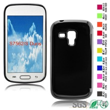 Stick a skin Phone cover Black Color Soft Phone Back case For Samsung S7562