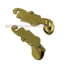 fashionable luxury custom metal zipper puller gold metal zipper slider