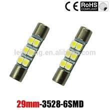 New Vanity LED Light bulbs Mirror Fuse Sun Visor 29mm 6-SMD 6641 LED