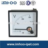 Analog panel voltmeter 72*72 DC 300V analog voltmeter 72