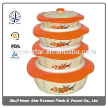 4pcs/set food warmer vacuum round container