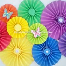 DIY paper pinwheels Lace Doilies Rosettes Paper Fans Backdrop baby shower decoration