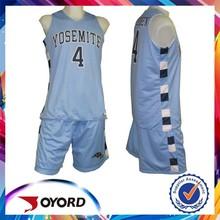 custom basketball uniform comfortable polyester material