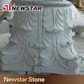 grado superior de pilar decorativo tallado de piedra encima de precio de la columna