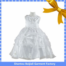 Sleeveless party white ball gowns for children